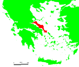 Map of Evia