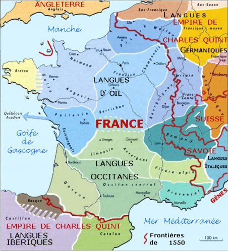 How parisian french became standard alpha omega translations francelanguagemap1550 gumiabroncs Choice Image