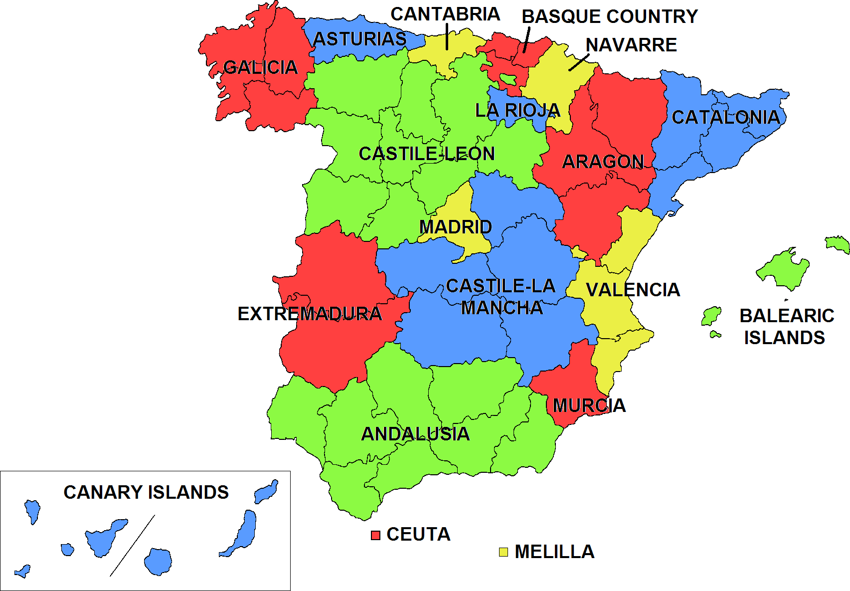 Languages In Spain Map.Four Languages You Didn T Know Were From Spain