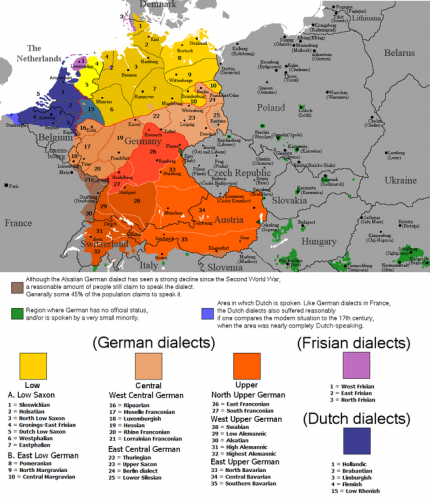 How Many Dialects of German Are There?