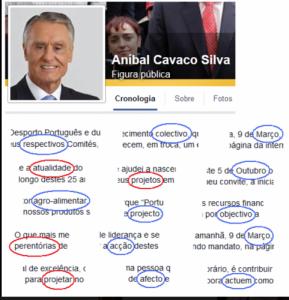 Portuguese President's website showing numerous errors